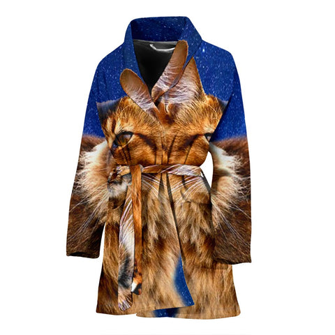 Lovely Somali Cat Print Women's Bath Robe
