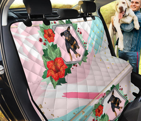 Rottweiler Floral Print Pet Seat Covers