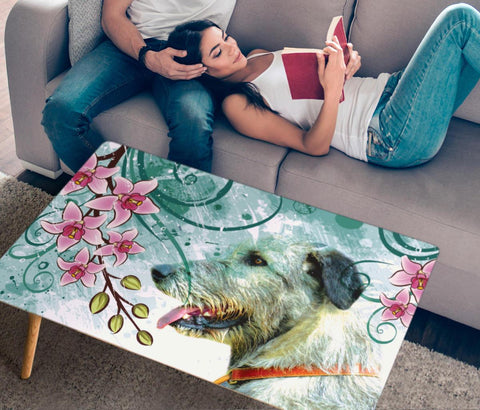 Irish Wolfhound Print Rectangular Coffee Table
