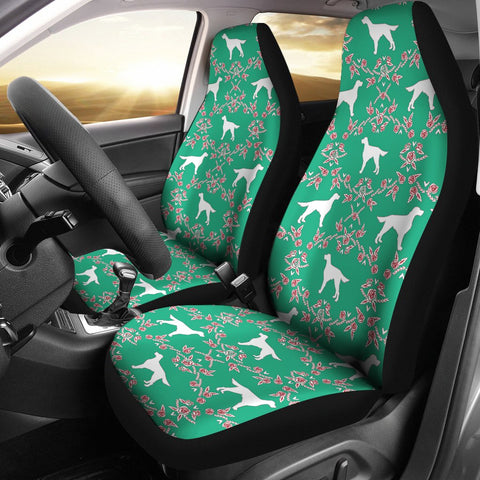Irish Setter Dog Floral Print Car Seat Covers