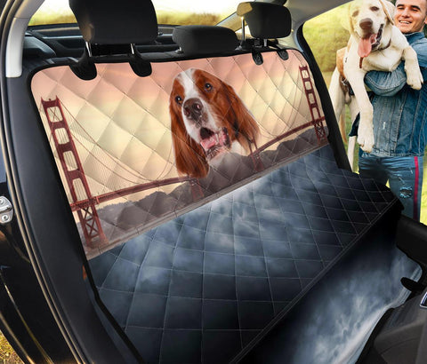 Irish Red and White Setter Print Pet Seat Covers- Limited Edition