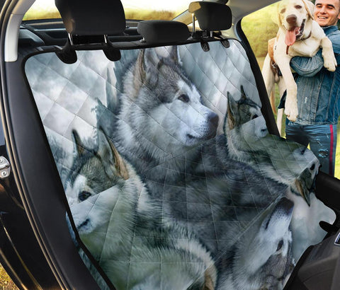 Alaskan Malamute Print Pet Seat Covers