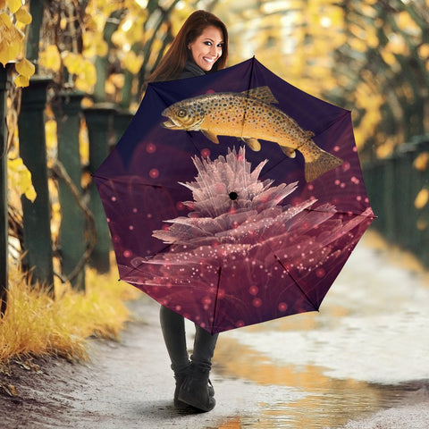 Brown trout Fish Print Umbrellas
