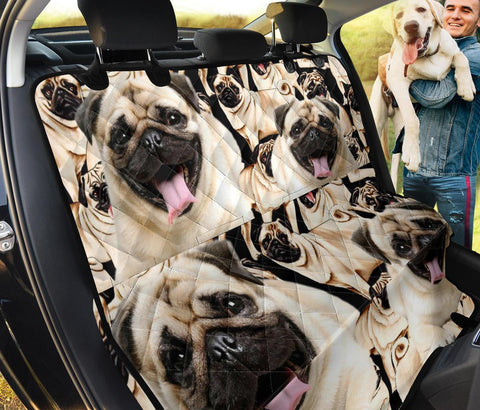 Pug Pattern Print Pet Seat Covers