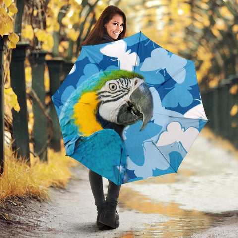 Blue And Yellow Macaw Parrot Print Umbrellas