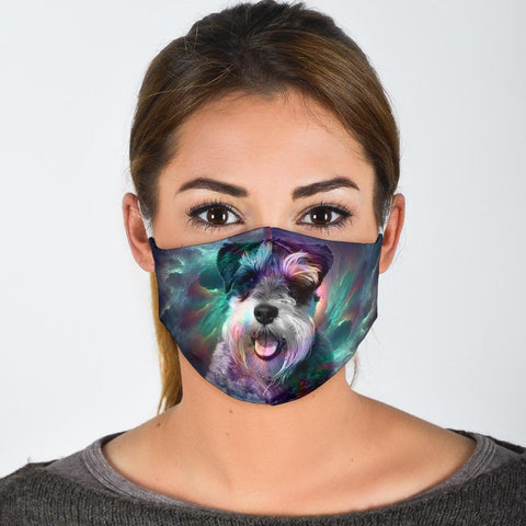 Miniature Schnauzer Print Face Mask- Limited Edition