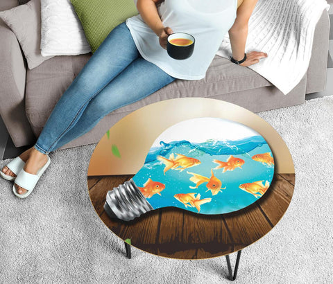 GoldFish Art Print Circular Coffee Table