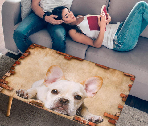 French Bulldog Print Rectangular Coffee Table- Limited Edition