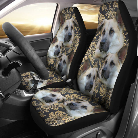 Cute Chinook Dog Print Car Seat Covers