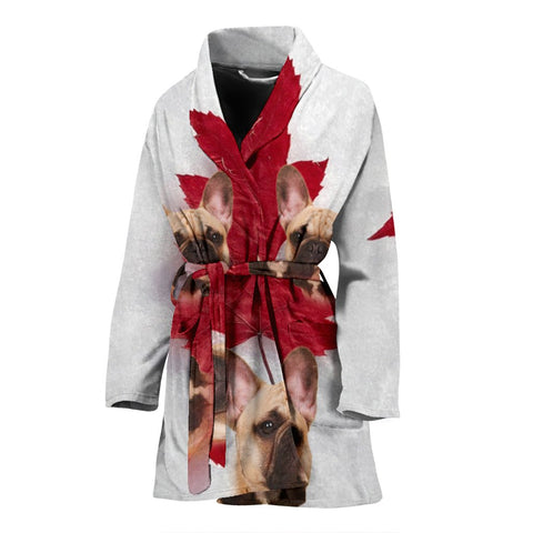 French Bulldog Print Women's Bath Robe