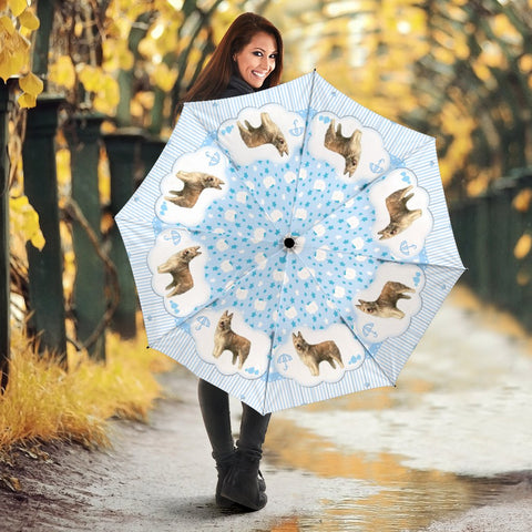 Amazing Berger Picard Dog Print Umbrellas