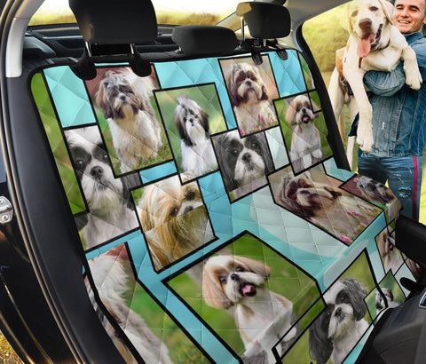 Cute Shih Tzu Print Pet Seat Covers