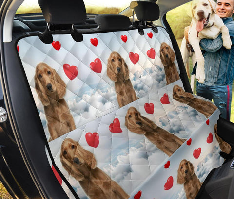 Cute Cocker Spaniel With Heart Print Pet Seat Covers