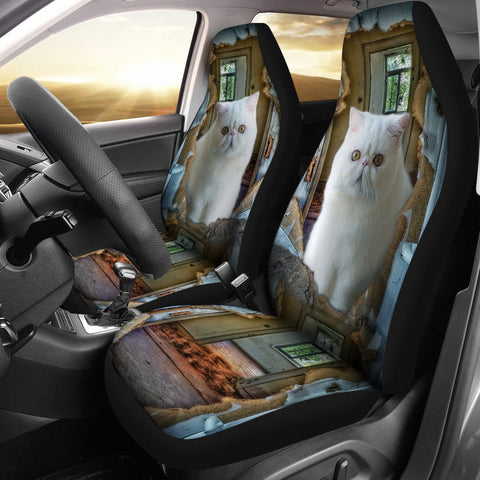 Exotic Shorthair Cat 3D Print Car Seat Covers