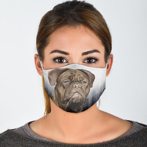 Dogue De Bordeaux Print Face Mask- Limited Edition