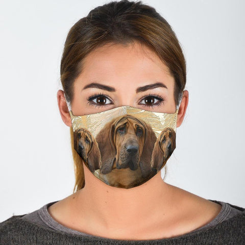 Lovely Bloodhound Print Face Mask