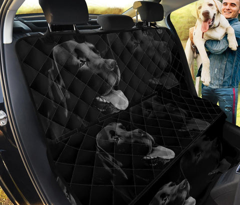Black Labrador Dog Print Pet Seat Covers