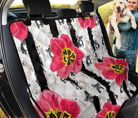 French Bulldog Floral Print Pet Seat Covers