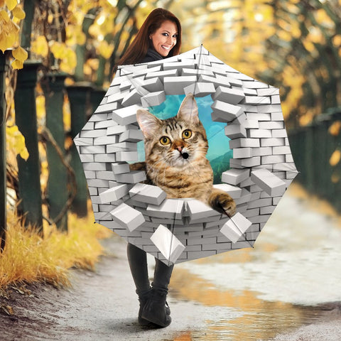 Cute American Bobtail Cat Print Umbrellas