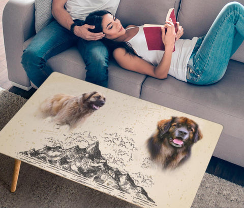 Leonberger Dog Print Rectangular Coffee Table