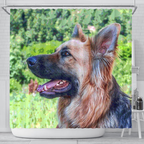 Amazing German Shepherd Dog Art Print Shower Curtains
