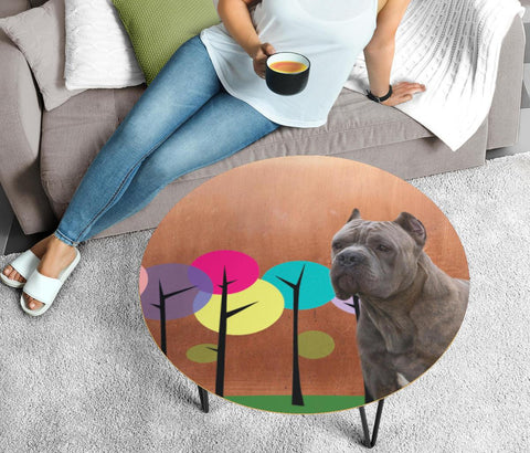 Cane Corso Print Circular Coffee Table