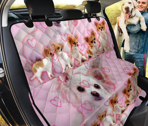 Chihuahua On Pink Print Pet Seat Covers