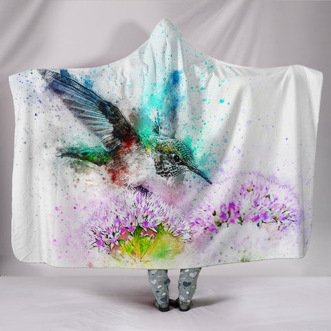 Amazing Bird Painting Print Limited Edition Hooded Blanket