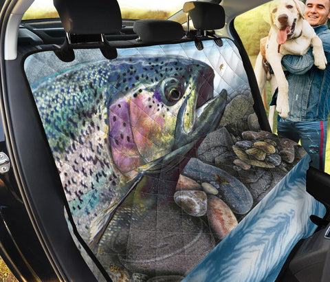 Amazing Rainbow trout Fish Print Pet Seat Covers