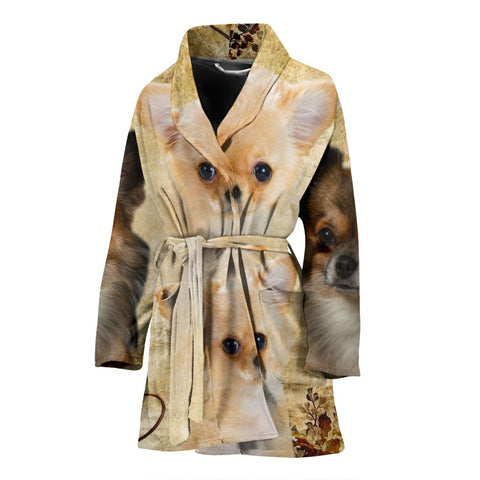 Lovely Chihuahua Dog Print Women's Bath Robe