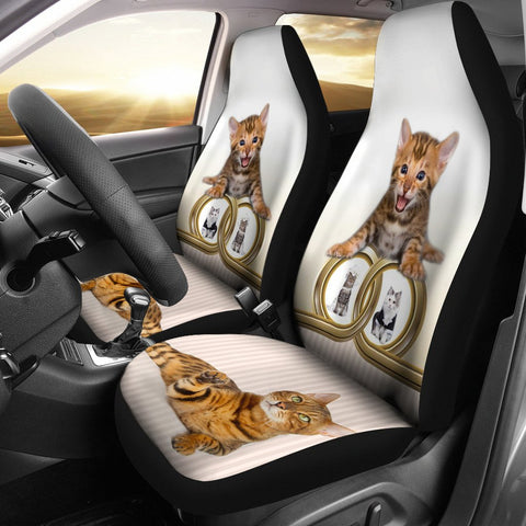 Bengal cat Print Car Seat Covers