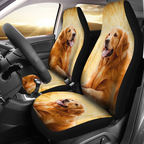 Golden Retriever Print Car Seat Covers