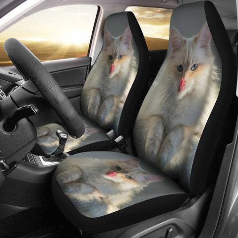 Cute Birman Cat Print Car Seat Covers