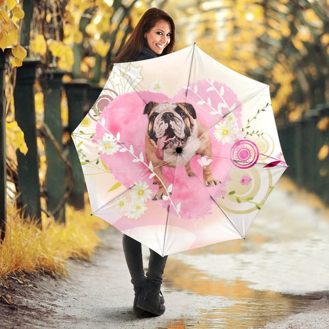 Bulldog Print Umbrellas