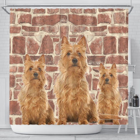 Australian Terrier Print Shower Curtains