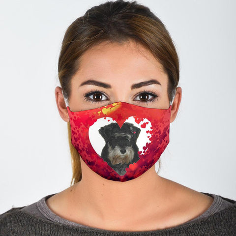 Giant Schnauzer On Pink Print Face Mask