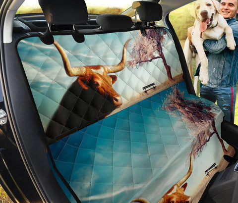 Amazing Texas Longhorn Cattle (Cow) Print Pet Seat Covers