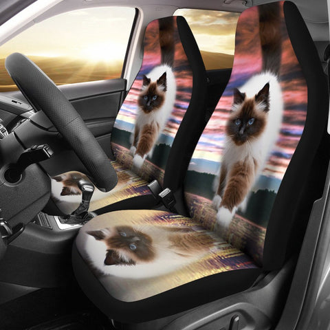 Amazing Walking Himalayan cat Print Car Seat Covers