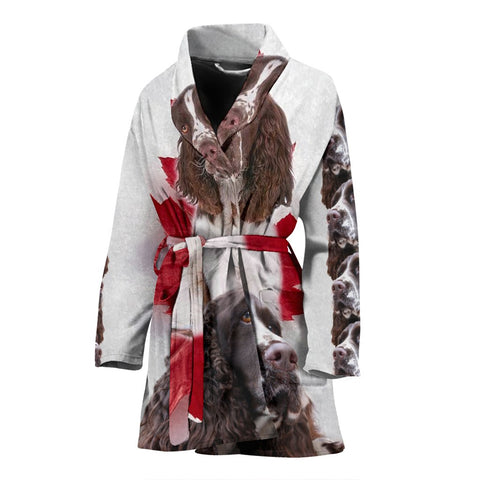 English Springer Spaniel Print Women's Bath Robe