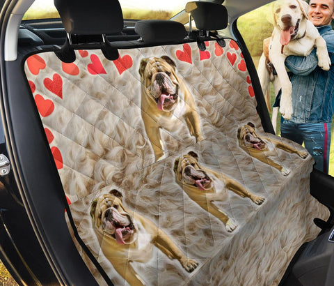 Bulldog Print Pet Seat Covers
