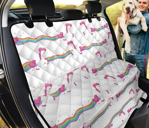 Running Unicorn Pattern Print Pet Seat Covers