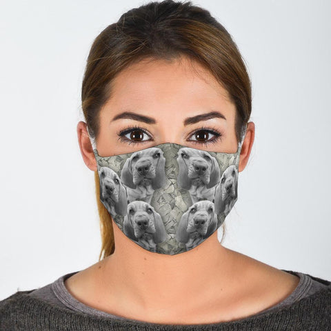 Amazing Bloodhound Print Face Mask