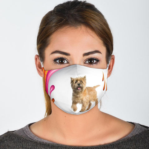 Cute Cairn Terrier Print Face Mask