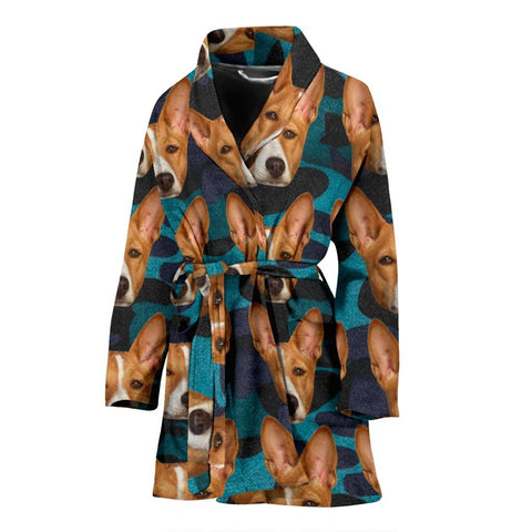 Basenji Dog Print Women's Bath Robe