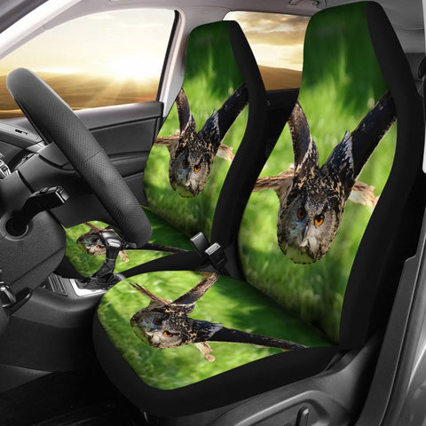 Flying Owl Bird Print Car Seat Covers
