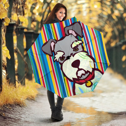 Cute Schnauzer Dog Print Umbrellas
