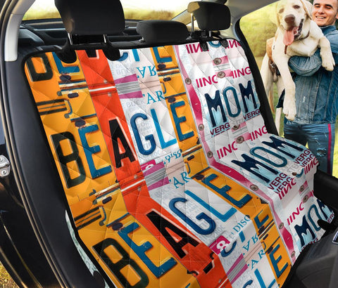Beagle Mom Print Pet Seat Covers