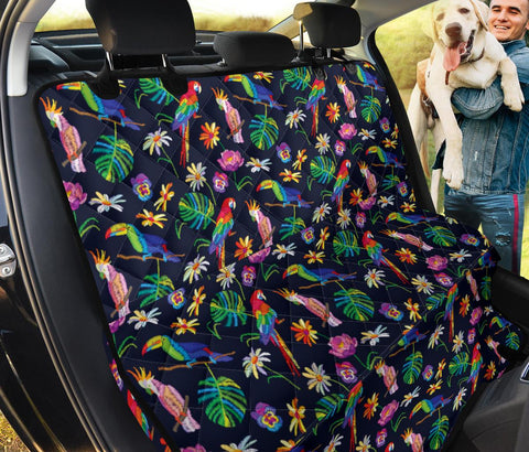 Parrot Floral Print Pet Seat Covers