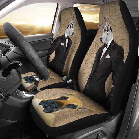 Great Dane Print Car Seat Covers