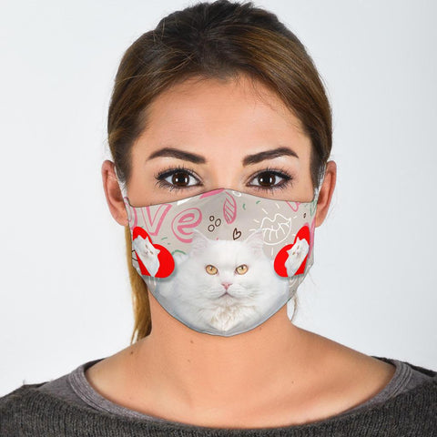 Turkish Angora Cat Print Face Mask